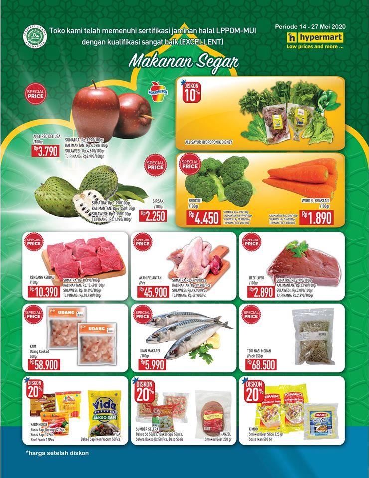 Promo Hypermart Kategori Makanan Segar Periode 14 - 27 Mei 2020