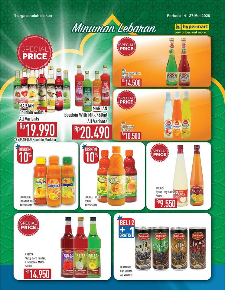 Promo Hypermart Kategori Minuman Lebaran Periode 14 - 27 Mei 2020