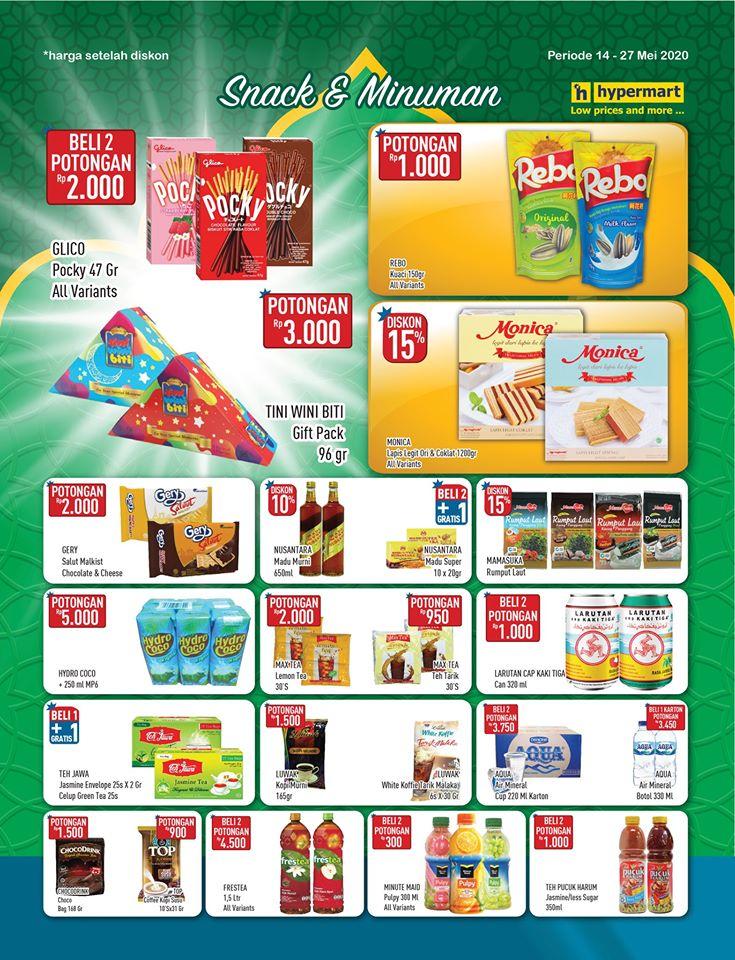 Promo Hypermart Kategori Snack & Minuman Periode 14 - 27 Mei 2020