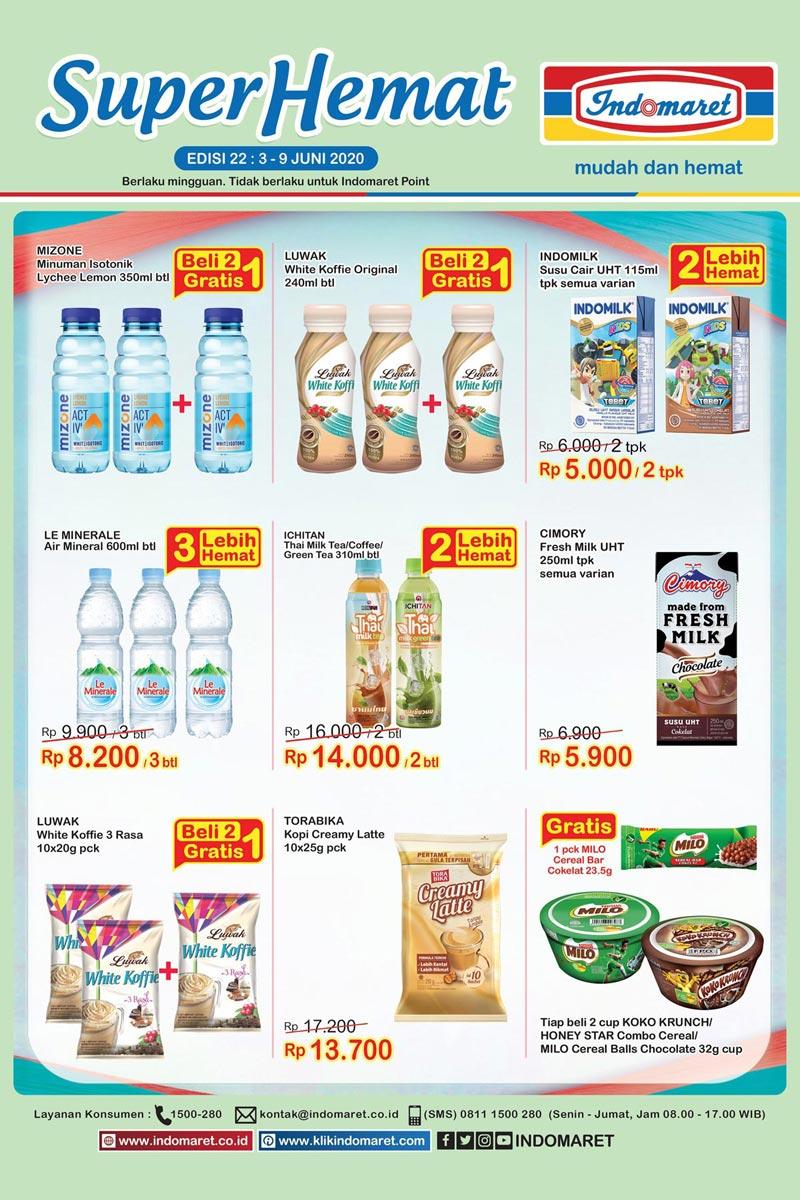 Katalog Promo Super Hemat Indomaret Kategori Minuman 3-9 Juni 2020
