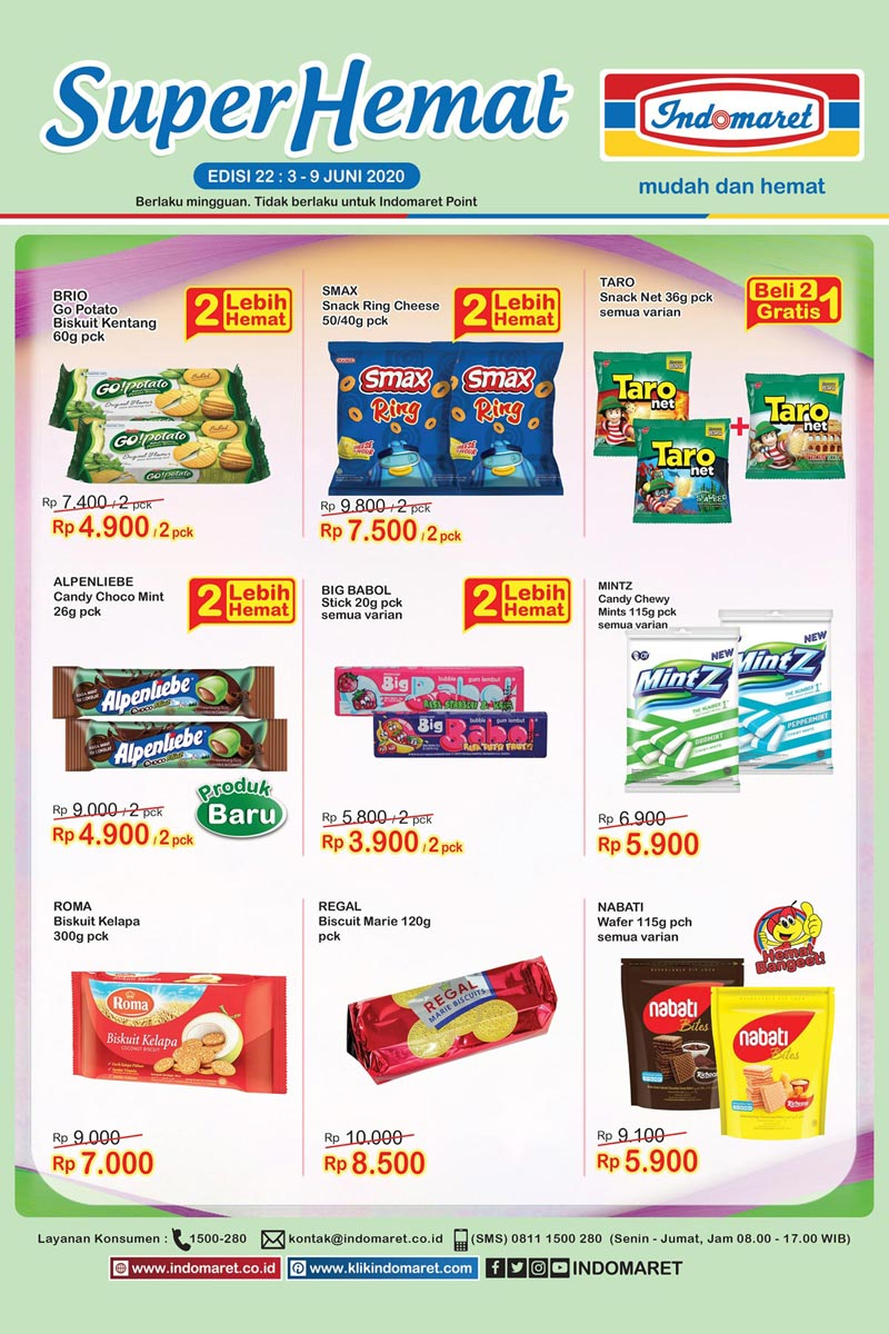 Katalog Promo Super Hemat Indomaret Kategori Cemilan 3-9 Juni 2020