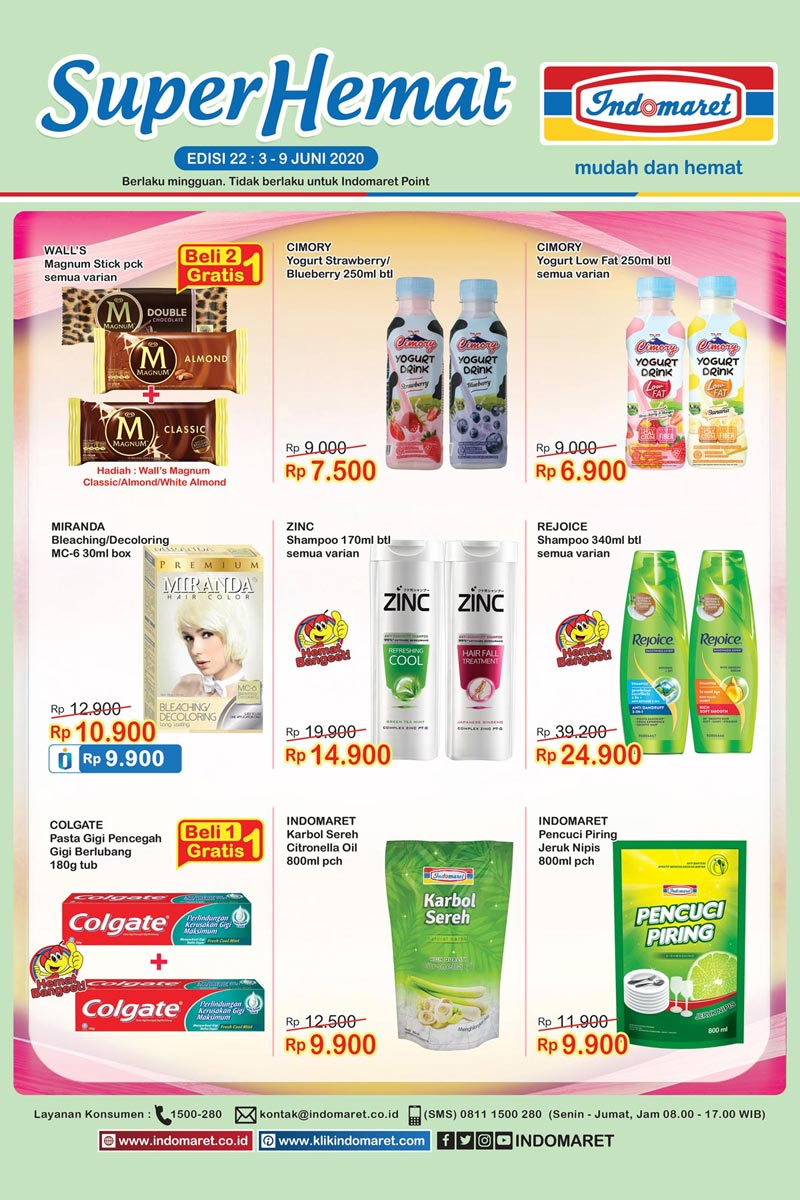Katalog Promo Super Hemat Indomaret Kategori Campur 3-9 Juni 2020