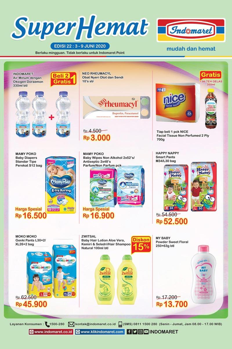 Katalog Promo Super Hemat Indomaret Kategori Perlengkapan Bayi dan Campur 3-9 Juni 2020