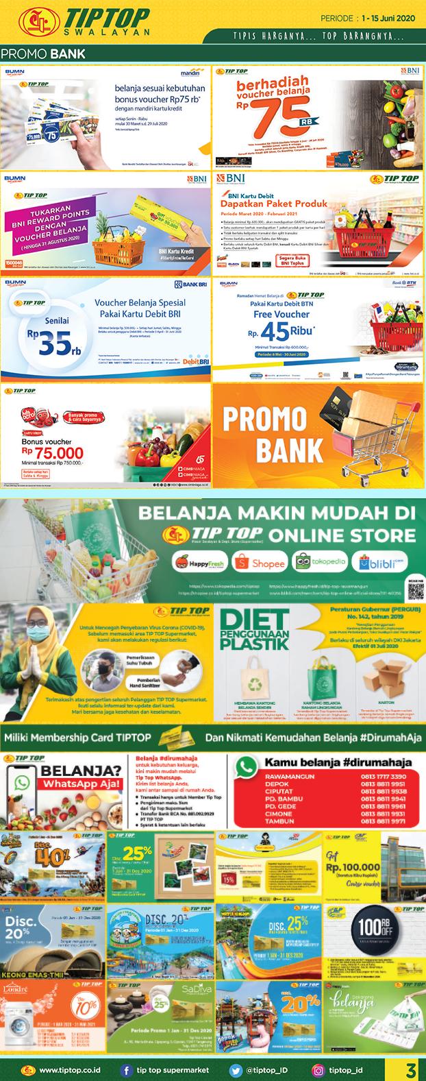 Katalog Promo Tip Top Swalayan Periode 1 - 15 Juni 2020